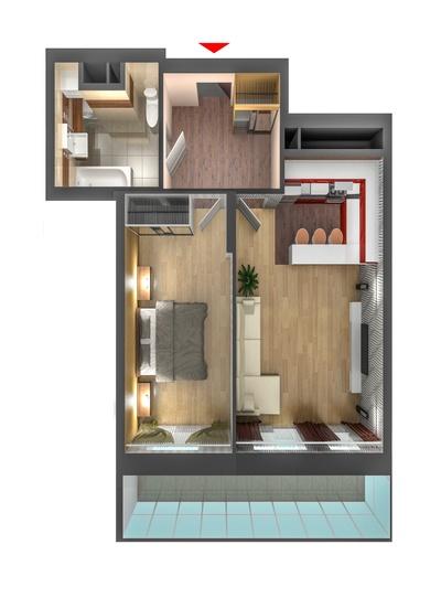 макет квартиры